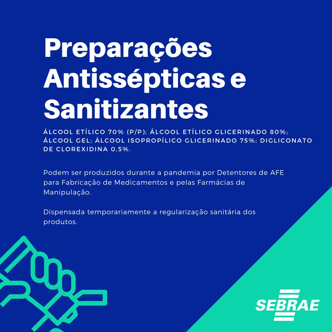 Preparações antissépticas e sanitizantes