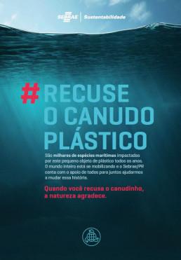 Campanha recuse o canudo plástico