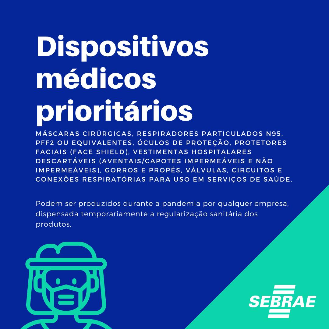 Dispositivos médicos prioritários