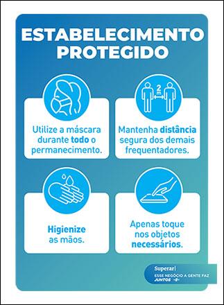 Cartaz COVID-19 - Regras do estabelecimento