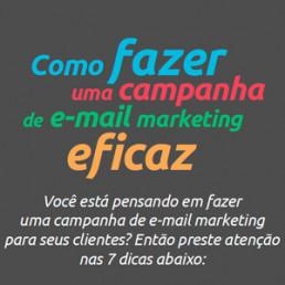 Infográfico Como fazer uma campanha de e-mail Marketing eficaz - Sebrae