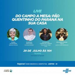 Imagem Evento: Live Do Campo a Mesa